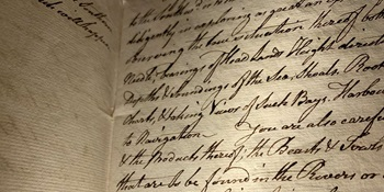 James Cook's Secret Instructions, 1768. Courtesy National Library of Australia