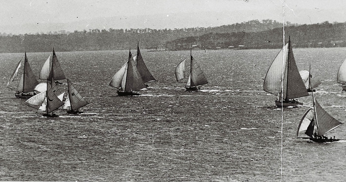 Sailing off Coal Point, c.1935. Photographer unknown. Image: Lake Macquarie Community Heritage Photography collection