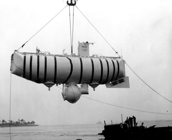 The TRIESTE was acquired by the US Navy for Project Nekton.