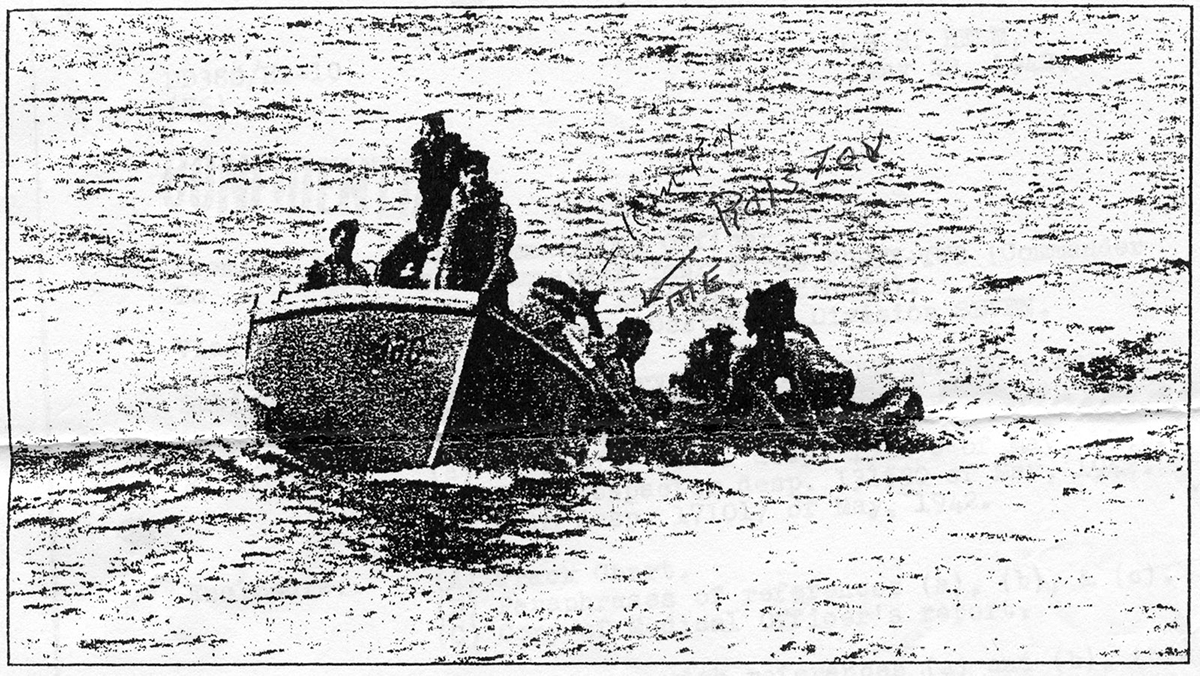 urvivors of the USS Neosho being rescued. Image: Wikimedia.