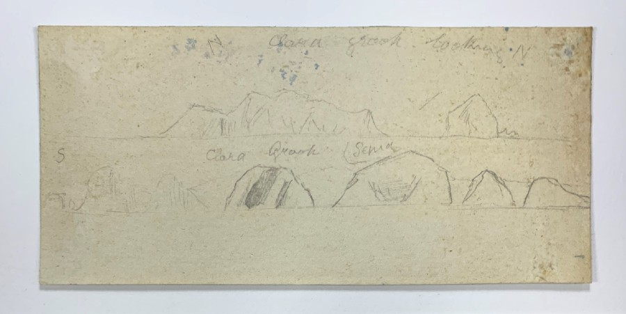 After the backing removal revealing hidden drawings and inscriptions – I might have been the first person in 100 years to see them!