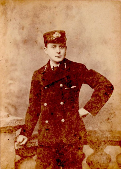 Arthur Pringle as a cadet on HMS Britannia. Image courtesy of Eliots of Port Eliot