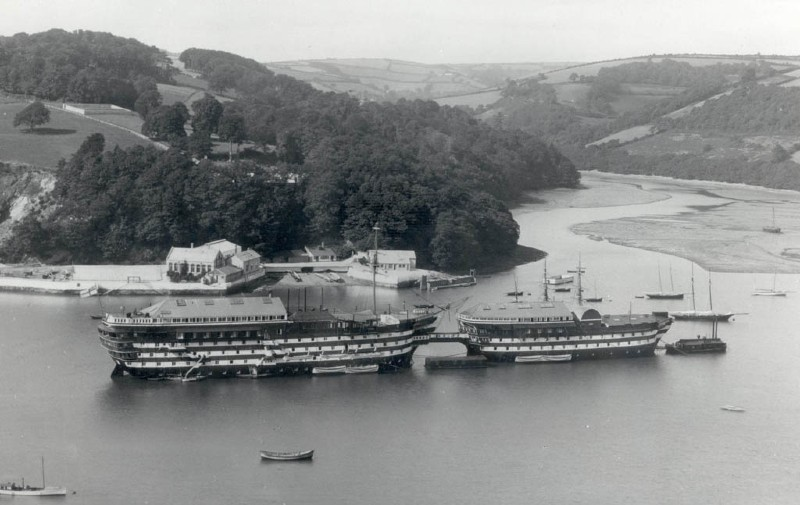 Home away from home for young Arthur - HMS Britannia at Dartmouth, ca. early 1900s. Image courtesy of Royal Navy
