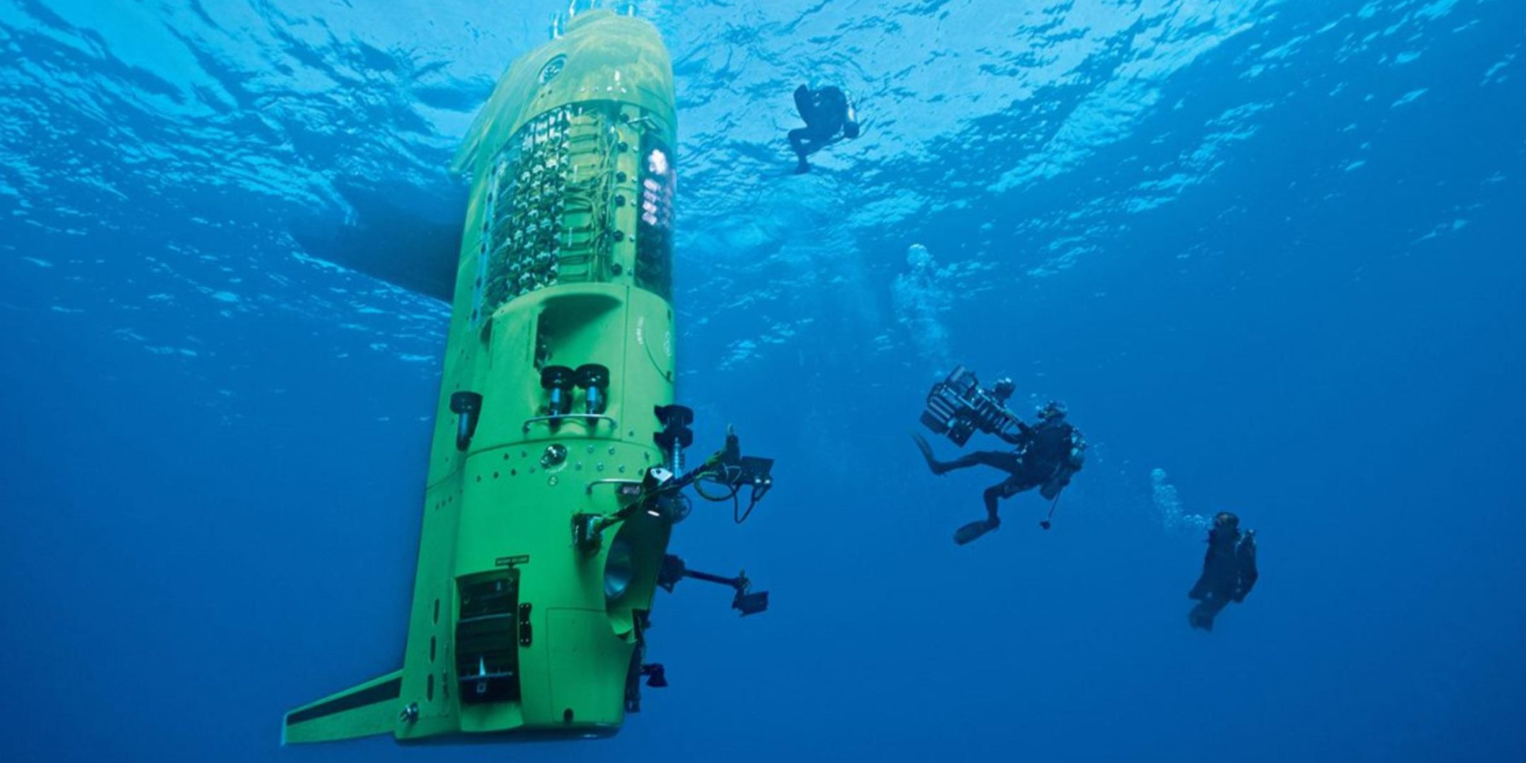 On March 26 2012 Cameron made a record-breaking solo dive to the earth's deepest point, the bottom of the Challenger Deep in the Mariana Trench. Image: Mark Thiessen/NatGeoCreative.