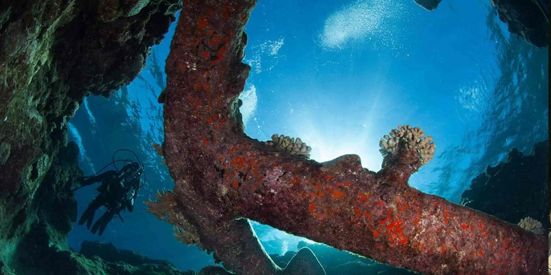 Morgans anchors at site KR11. Image: Julia Sumerling, Silentworld Foundation