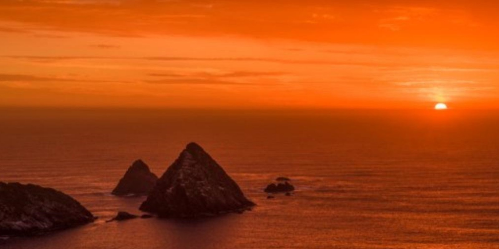Sunset over Needles