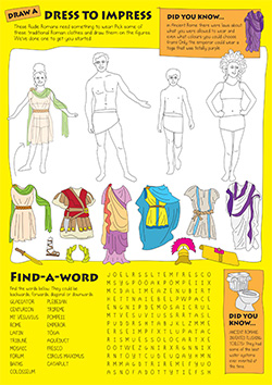 Kids Activity Sheet Romans