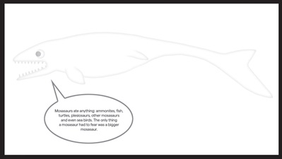 Sea Monsters Colouring-In Mosasaur