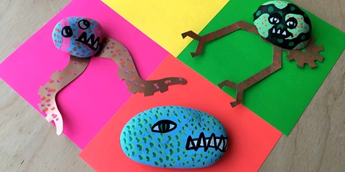 Make your own goofy gastroliths - prehistoric pet rocks