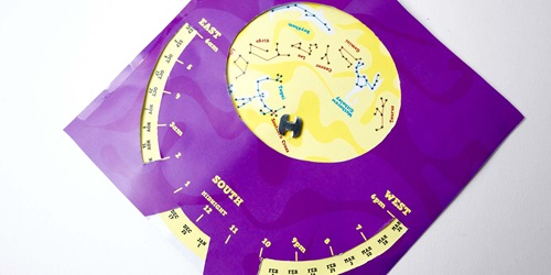 How to make a paper planisphere