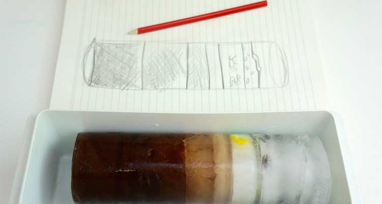 Polar Science Experiment: how to make edible ice cores