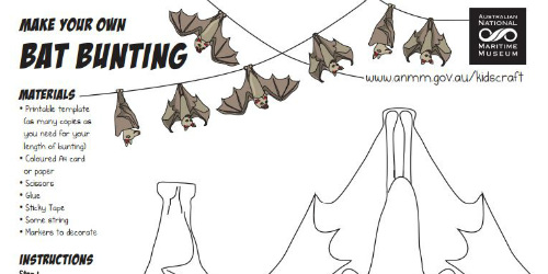 Make A Bat Bunting You Ll Go Batty When Decorate With This Fun Simply Print Out The Template And Follow Instructions