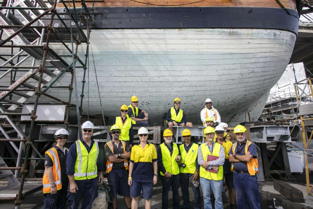 Fleet staff in front of Endeavour