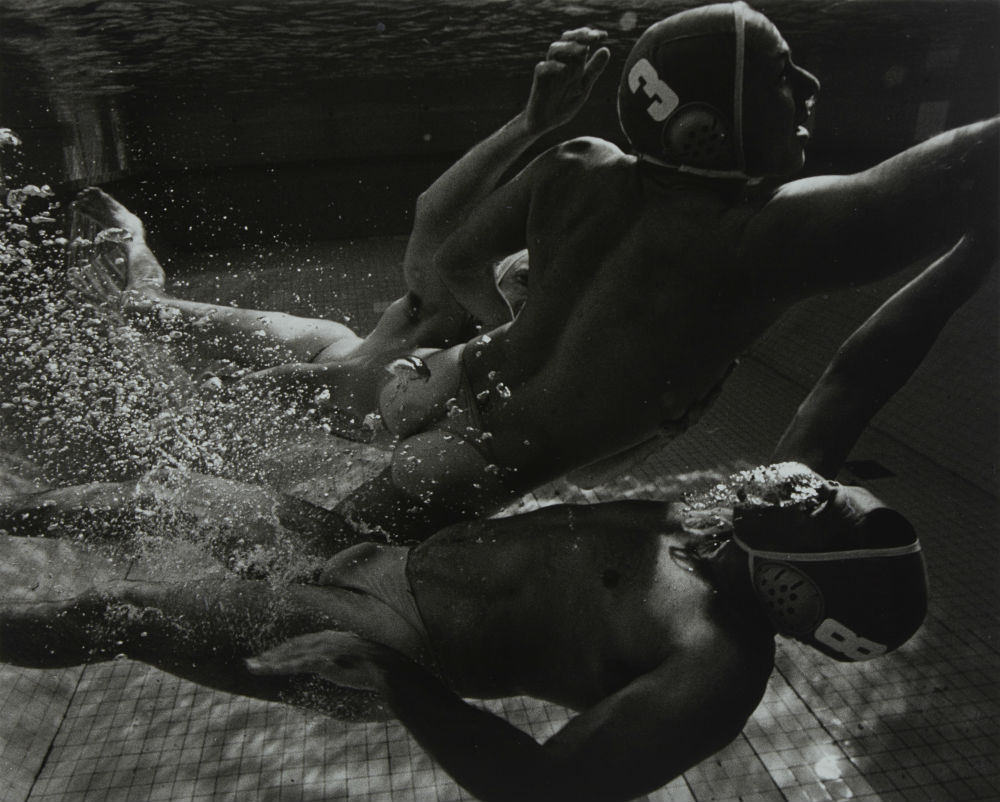 Darren Wegg, Rodd Messent, Mal McNeilly: water polo players, 2002. ANMM Collection NC701225, © Paul Freeman. Reproduced courtesy of Paul Freeman.