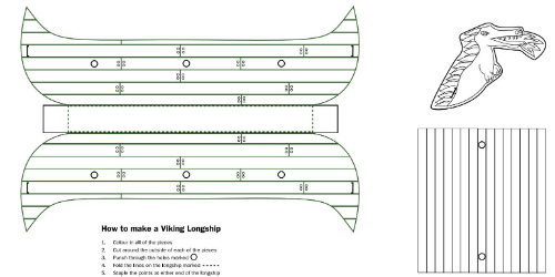Make Your Own Viking Long Ship Simply Print Out This Template And Follow The Instructions
