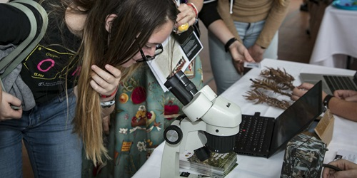 The event's aim is to encourage female high school students in careers in science.