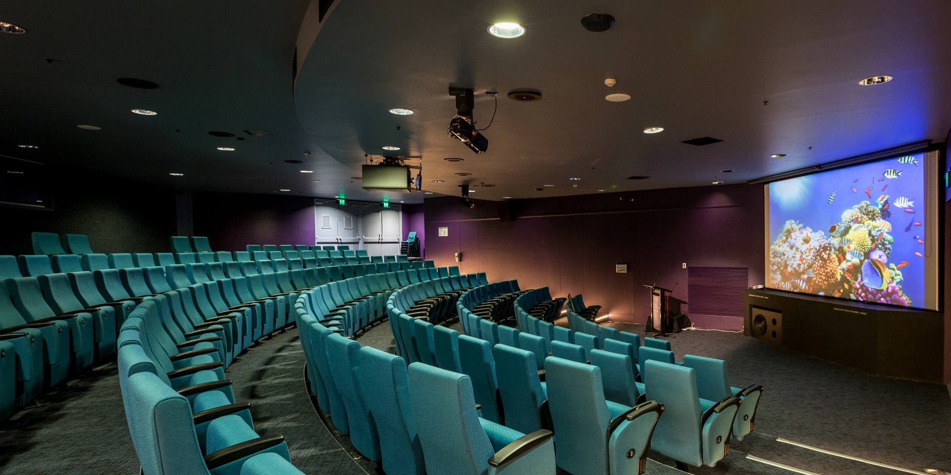 The Theatre boasts state-of-the-art presentation equipment and facilities and can comfortably seat 210 guests.