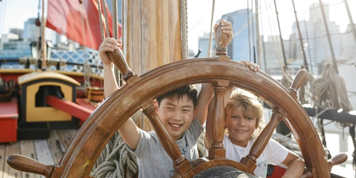 Kids on HMB Endeavour