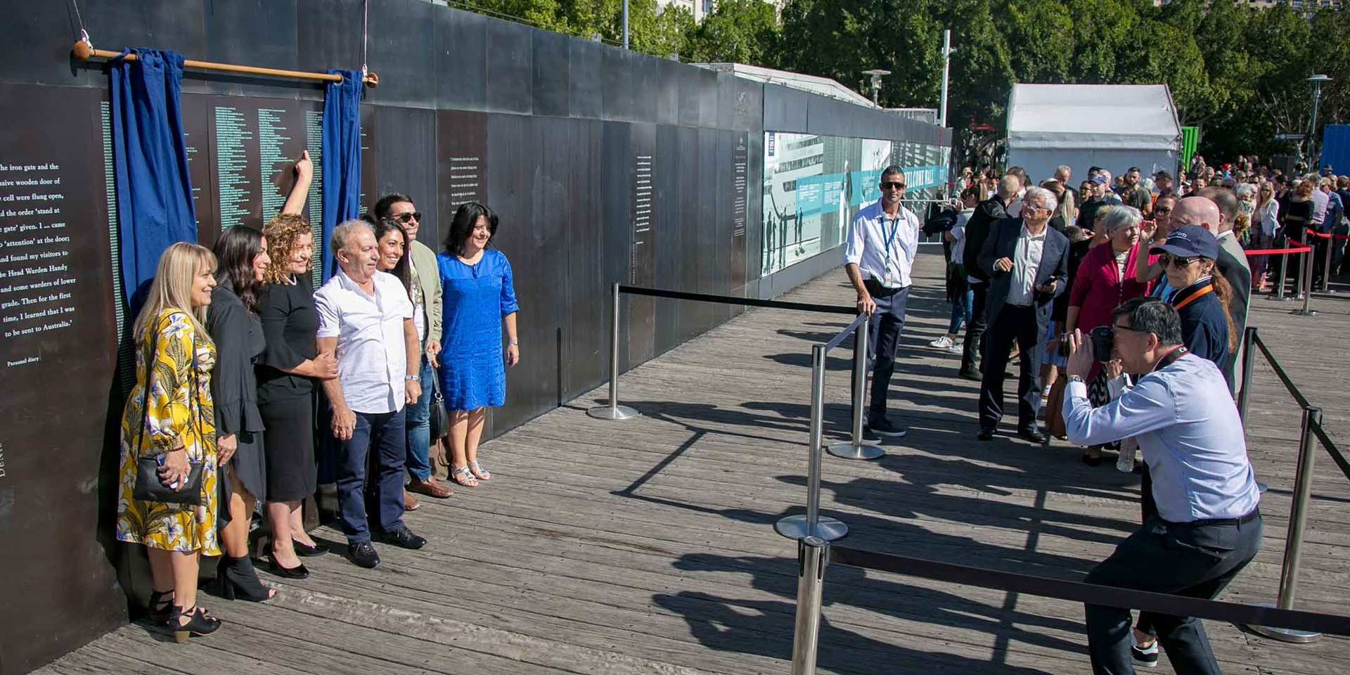 Welcome Wall unveiling ceremony, Australian National Maritime Museum, 2018