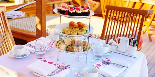 High Tea catering on board Edwardian Steam Yacht Ena