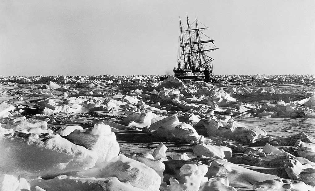Frank Hurley - Endurance, the onset of winter, Antarctica 1915. ANMM Collection 00034262