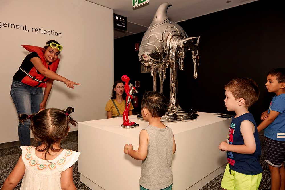 A group of under 5s during a mini mariners program in the museum's galleries