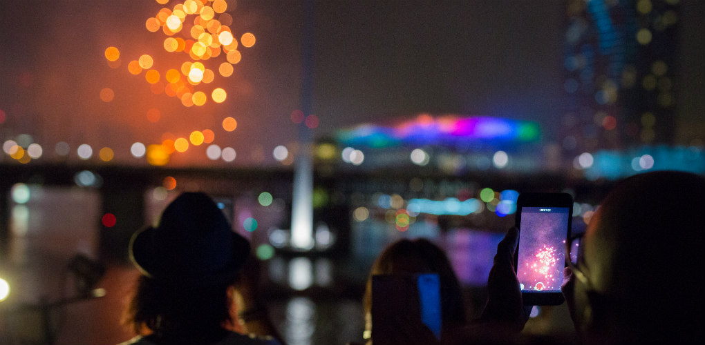 Shared memories: New Year's Eve celebrations at the Australian National Maritime Museum, Darling Harbour, Sydney 2017