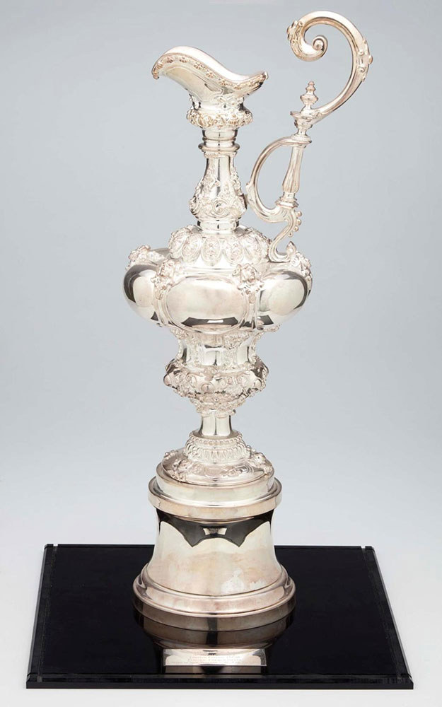 3/4 scale replica America's Cup. ANMM Collection donated by Mr Albert YL Wong AM & Mrs Sophie Wong.