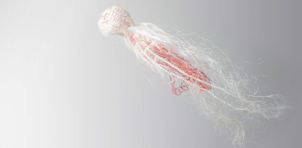 'Mable' ghost net jellyfish  Ellarose Savage; Australian National Maritime Museum Collection 00055267