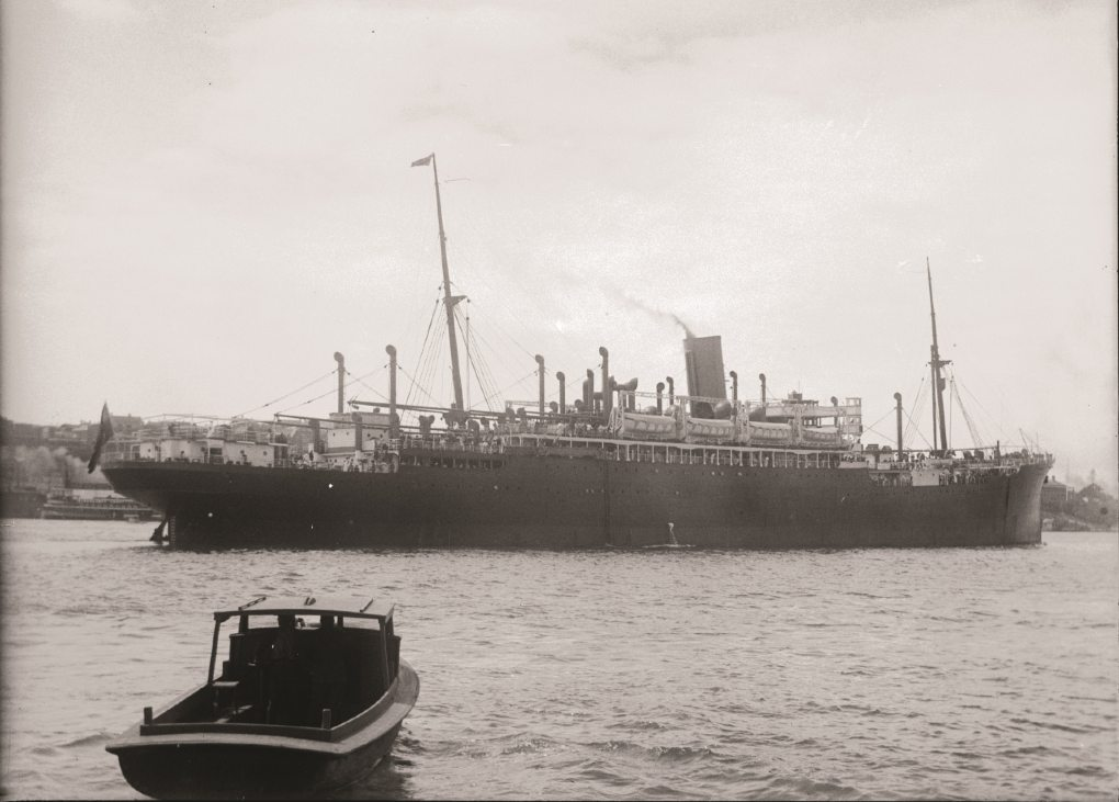 SS Moreton Bay was one of the vessels chartered by the Dutch government in exile that was affected by the waterside workers black bans. ANMM Collection