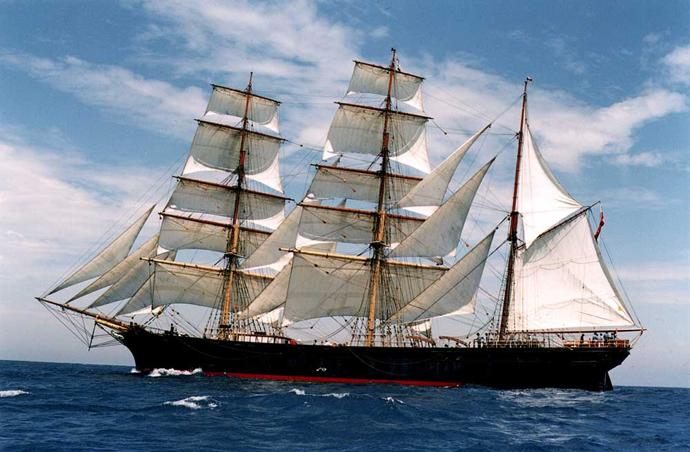 Tall Ship: James Craig 1874 at sea. Image: Australian National Maritime Museum.