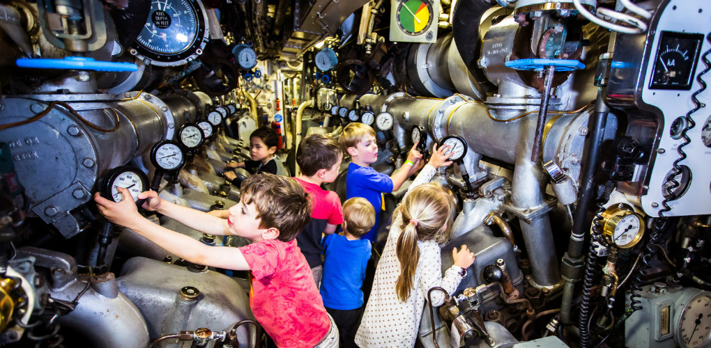 School Holidays Programs - Spring - October 2018. Kids explore the submarine HMAS Onslow. Photo: Geoff Magee | ANMM