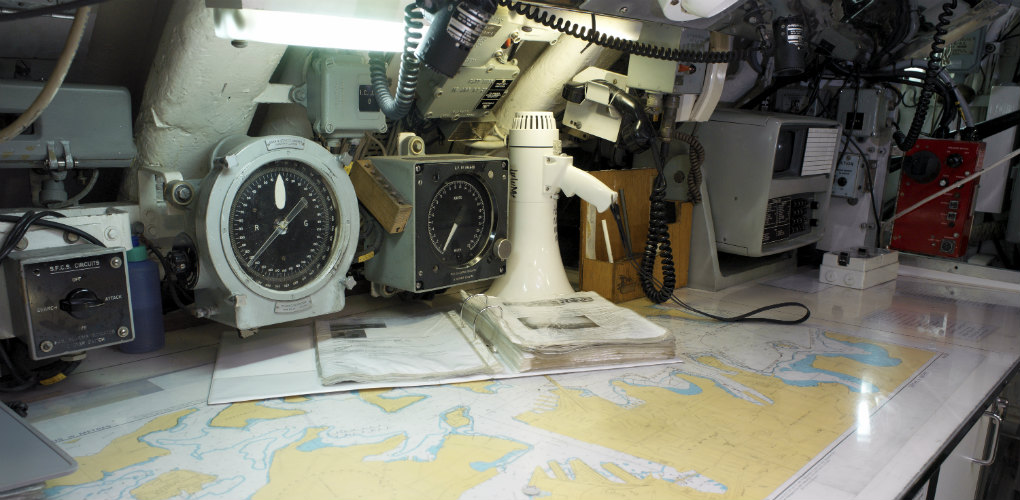 Submarine HMAS Onslow map room. Photo: Andrew Frolows | ANMM